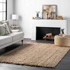 area rugs st catharines - nuLOOM Hand Made Chunky Loop Natural Jute Area Rug in Tan Color