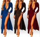 Sexy Womens Long Sleeve Bandage Bodycon Evening Party Cocktail Maxi Long Dress