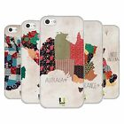 HEAD CASE DESIGNS PATTERNED MAPS SOFT GEL CASE FOR APPLE iPHONE 5C
