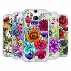 HEAD CASE DESIGNS WATERCOLOURED FLOWERS SOFT GEL CASE FOR HTC ONE M8