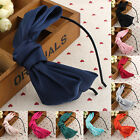 Pro Oversized Satin Bow Alice Hair Band Headband Bridal Wedding Flower Girl Gift