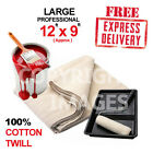 *LARGE (12ft x 9ft) PROFESSIONAL QUALITY 100% COTTON TWILL DUST SHEETS* EXPRESS!