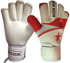 Goalkeeper Roll Finger goalie Gloves Red/White Adult Size 9