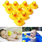 1/5/10/20PCS Cute Baby Children Bath Toys Funny Rubber Squeaky Duck Ducky Gift