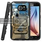 Samsung Galaxy S7 | Rugged Holster Clip Heavy Duty Case Wild Animals