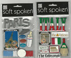 U CHOOSE  Soft Spoken  PARIS  ITALY 3D Stickers travel