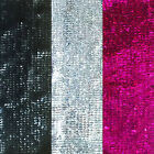 SEQUIN STRETCH FABRIC - Heavy Sequinned Trimming Material - 16cm Wide
