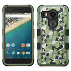 For LG Nexus 5X Rubber IMPACT TUFF HYBRID Case Skin Phone Cover Accessory