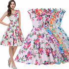 FLORAL Vintage Style 50s 60s Pinup Cocktail Swing Evening Tea Dress