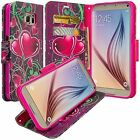 Samsung S7 Design Wallet Credit Card ID Stand Flip Phone Case Cover Accessory