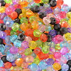 Wholesale Lots Acrylic Spacer Beads Faceted Round Ball Mixed 6mmx6mm