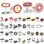 1 Pair Popular Wedding Party Groom Shirt Square DC Marvel Super Hero CuffLinks $1.69 USD