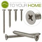 Countersunk Self Tapping Pozi Wood Chipboard Screws A2 Stainless Steel