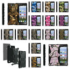 For ZTE Lever LTE | Z936L Rugged Stand Holster  Clip Case Camo Skin Hunter