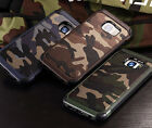 Shockproof Case Camouflage Hybrid Armor Cover For Samsung Galaxy S7 Edge S6 S5 4
