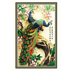 DIY 5D Diamond Painting Flower Peacock Embroidery Cross Crafts Stitch Home Decor