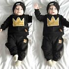 2pcs Newborn Toddler Infant Baby Boy Girl Clothes T-shirt Tops Pants Outfits Set