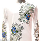 ls12 M L XL Japanese Irezumi Tattoo Long Sleeve T-shirt Fish Carp Koi Skate Punk
