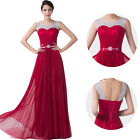 GK Red Sleeveless Satin Backless Ball Gown Formal Maxi Evening Prom Party Dress