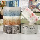 NEW 20mm*10m Decorative Washi Sticky Paper Fabric Tape Home Adhesive Crafts