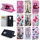 Lovely Flip Leather Rubber Wallet Card Hold Case Cover For LG Optimus G4 H810