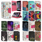 Diary-Style Faux Leather Folio Case w/ID Slot+Stand Flip Cover for Apple Models