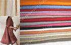 "100% Pure Linen Fabric Width 52""-58"" Sample 94cm Solid Plain Quality L2#"