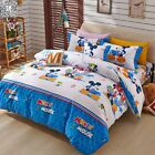 Mickey Mouse Doona covers New Cotton Double/Queen Size Bed Duvet/Quilt Cover Set