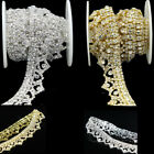 Wedding Party Embellishment DIY Jewelry Clear Glass Rhinestone Chain Trim Crafts