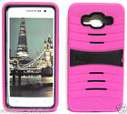 HOT PINK & BLACK U-Case Hybrid Cover Case for Samsung Galaxy Grand Prime