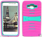 HOT PINK & TURQUOISE U-Case Hybrid Cover Case for Samsung Galaxy Grand Prime