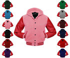 Faux Leather Sleeve College Varsity Men Wool Jackets Hoodie #RS-RS-BB-H-FL