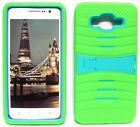 NEON GREEN & TURQUOISE U-Case Hybrid Cover Case for Samsung Galaxy Grand Prime