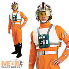 Star Wars X-Wing Pilot Mens Fancy Dress Sci-Fi Uniform Character Adult Costume