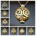 70cm Essential Oil Fragrance Aromatherapy Diffuser Bronze Hollow Locket Necklace