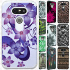 For LG G5 HARD Protector Hybrid Rubber Silicone Case Phone Cover + Screen Guard