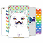 HEAD CASE DESIGNS BIGOTE DE ARCO IRIS CASO DURO TRASERO PARA APPLE iPAD MINI 4
