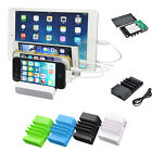 New Multiple USB Charging Dock Station Holder Set For Apple Watch iPhone Pad PC