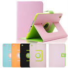 Stylish Leather 360 Degree Rotating Stand Case Cover for Apple iPad Mini