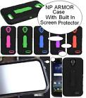 NP ARMOR Case with BUILT IN SCREEN PROTECTOR Faceplate ARMOR Phone Case For ZTE