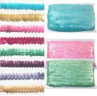 """Stretch Sequin Braid Trimming W:3/4"""" 10meter Multiple Colours Costume Dance Wear"""