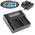 LCD Screen Dual Battery Charger For Canon LP-E6 5D Mark II III 5Ds 5DsR 70D 60D