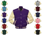 Faux Leather Sleeve Letterman College Varsity Men Wool Jackets CRS-CRS-CRB-FL