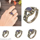 1PC Retro Court Oval Color Change Rhinestone Ring Mother's Day Gift M5874