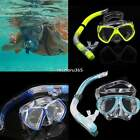 Scuba Gear Diving Equipment Dry Snorkel Set Snorkeling Dive Mask Adult Goggles