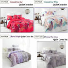 300TC Cotton Oriental Fan or Charm Quilt Cover Set by Shuteye DOUBLE QUEEN KING