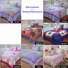 Boys Girls Kids Patchwork Comforter + Std Pillowcase SINGLE DOUBLE QUEEN KING