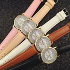 New Fahion Women's Leather Band Stainless-Stee Analog Quartz Vogue Wrist Watches