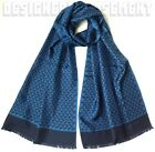 GUCCI blue with navy HORSES Print silk twill SCARMUEL scarf NWT Authentic $285!