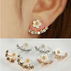 Elegant Women Flower Crystal Rhinestone Ear Studs Earrings Cute Jewelry Charm